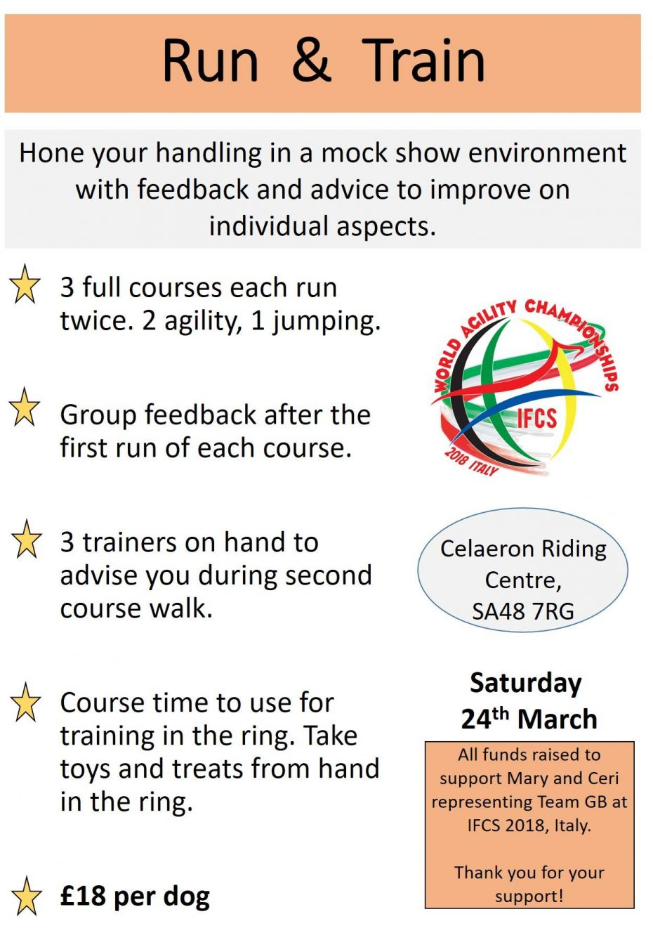 Run and Train event information